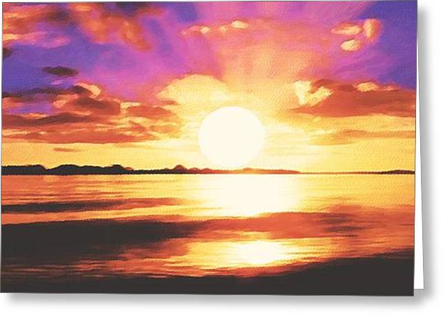 Sophiaart Gallery Greeting Cards - Into the Sunset Greeting Card by SophiaArt Gallery