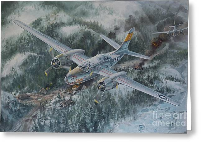 Jet Print Greeting Cards - Into The Valley of Death Greeting Card by Randy Green