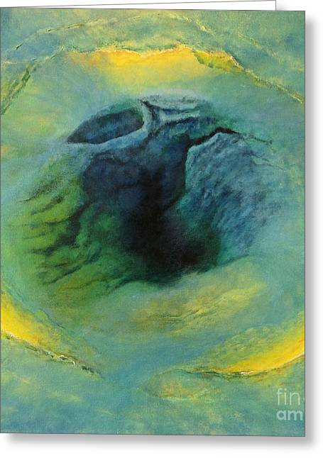 The Void Paintings Greeting Cards - Into The Void Greeting Card by Cindy Lee Longhini