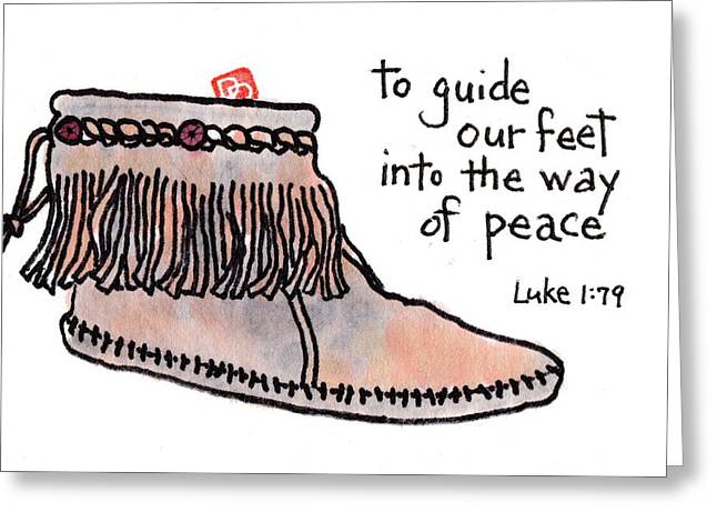 Peaceable Greeting Cards - Into the Way of Peace Greeting Card by Dosanko Debbie