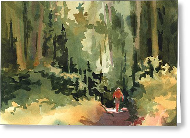 Into the Wild Greeting Card by Kris Parins