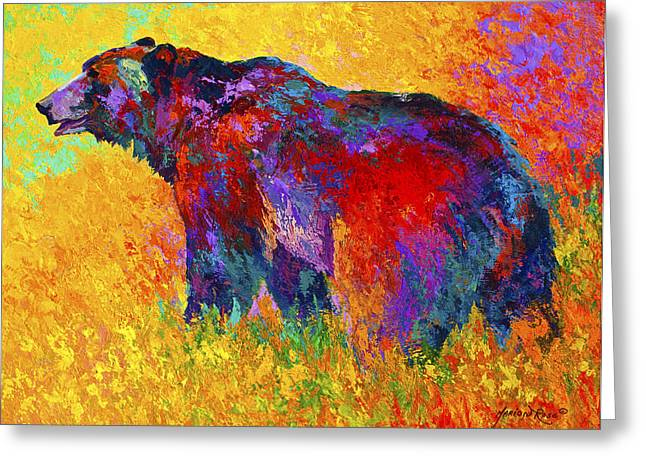 Animals Paintings Greeting Cards - Into The Wind Greeting Card by Marion Rose