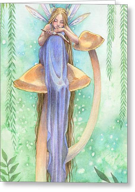 Fairies Greeting Cards - Into the Word Greeting Card by Sara Burrier