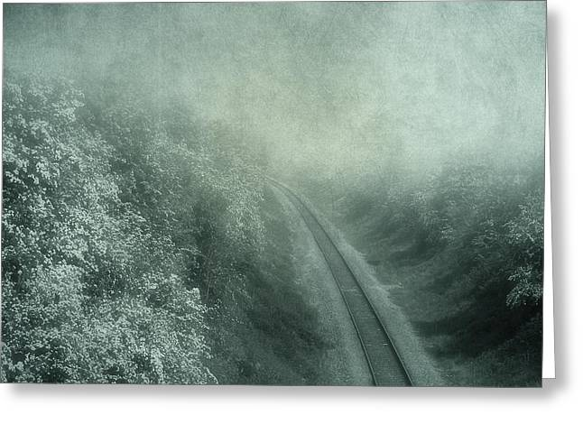 Misty Mixed Media Greeting Cards - Into Unknown Greeting Card by Svetlana Sewell