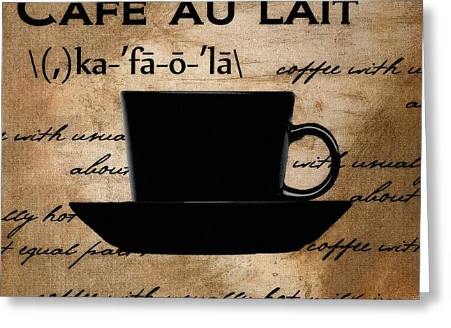 Caffe Latte Greeting Cards - Into You Greeting Card by Lourry Legarde
