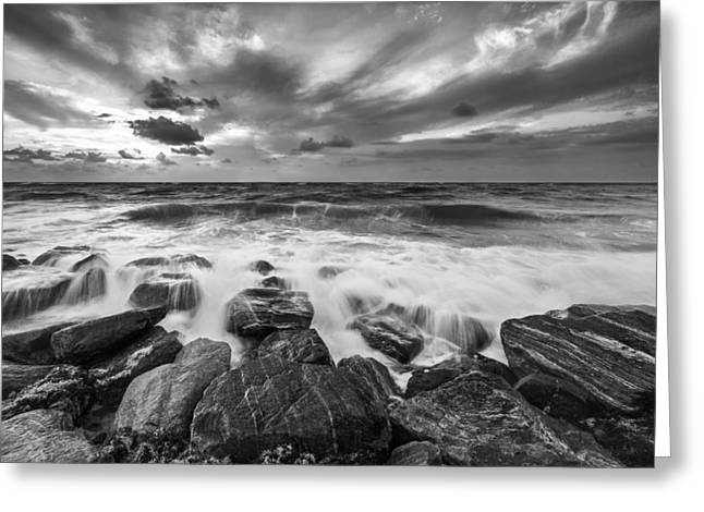 Ocean Black And White Prints Greeting Cards - intoxicating  II Greeting Card by Jon Glaser