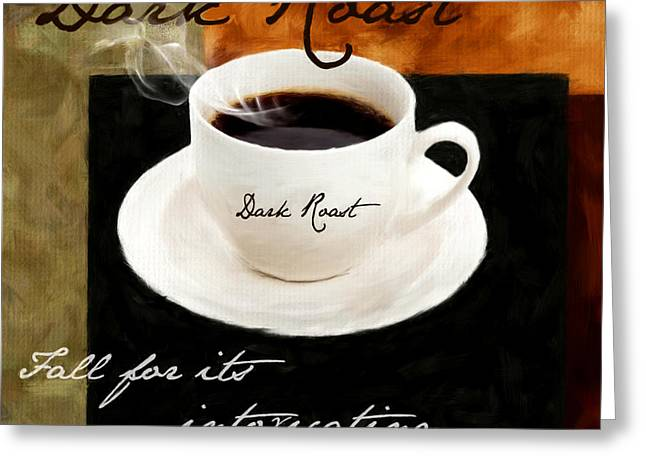 Caffe Latte Greeting Cards - Intoxicatingly Addictive Greeting Card by Lourry Legarde