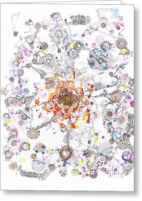 Intracellular Diversion Greeting Card by Regina Valluzzi