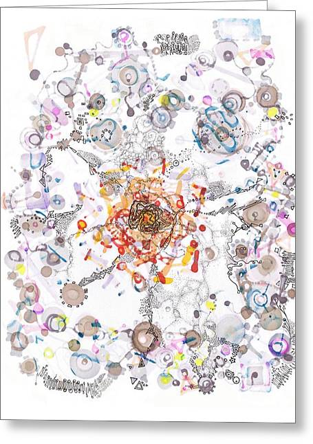 Division Drawings Greeting Cards - Intracellular Diversion Greeting Card by Regina Valluzzi