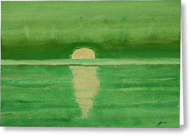 Pen And Paper Greeting Cards - Intracoastal original painting Greeting Card by Sol Luckman