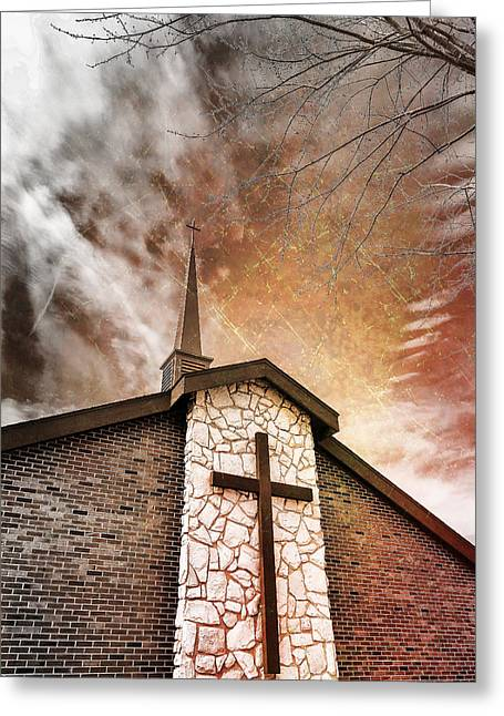 Defiance Greeting Cards - Intrepid Faith Greeting Card by Bill Tiepelman