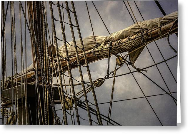 Wooden Ship Greeting Cards - Intricate Complexity Greeting Card by Dale Kincaid