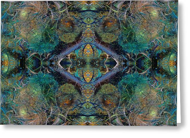 Fractal World Greeting Cards - Intrigue of Mystery One of Four Greeting Card by Betsy A  Cutler