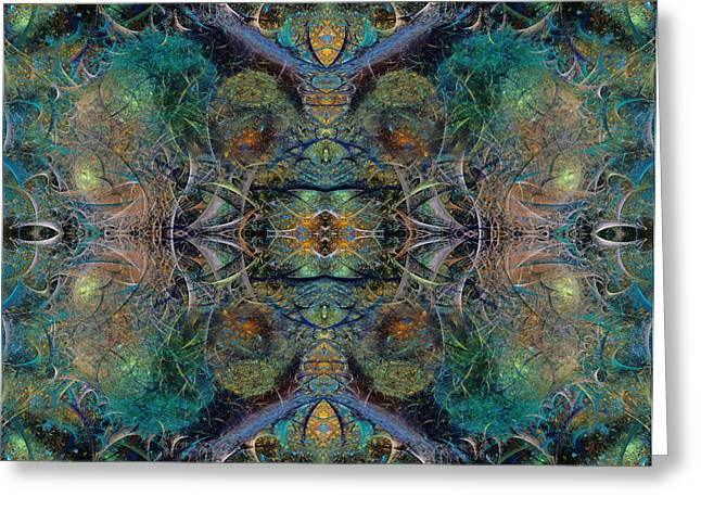 Fractal World Greeting Cards - Intrigue of Mystery Three of Four Greeting Card by Betsy A  Cutler