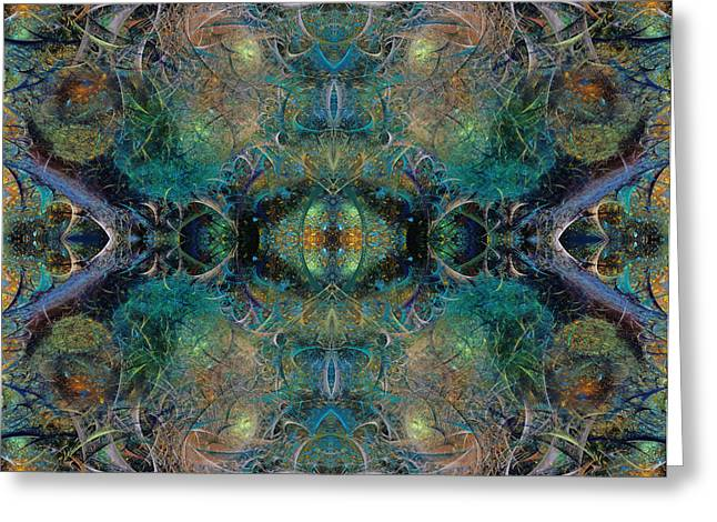 Fractal World Greeting Cards - Intrigue of Mystery Two of Four Greeting Card by Betsy A  Cutler