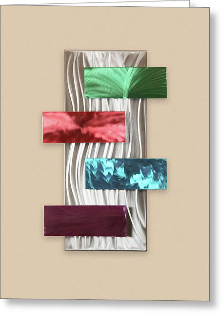 Contemporary Abstract Sculptures Greeting Cards - Intrigue Greeting Card by Rick Roth