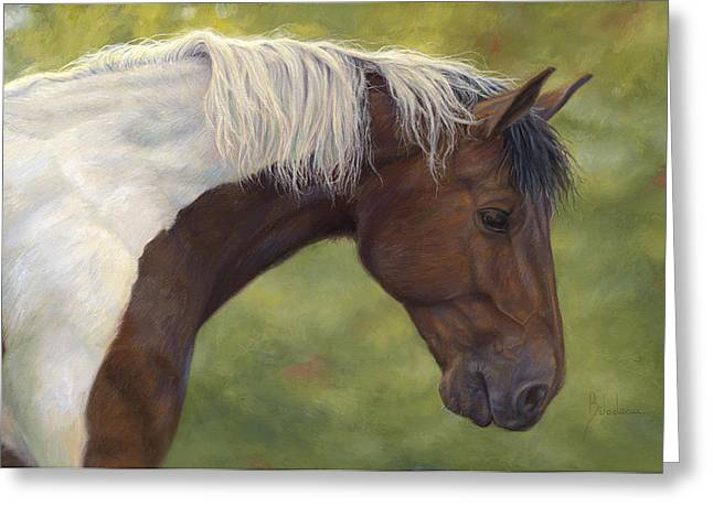 Intrigued Greeting Card by Lucie Bilodeau