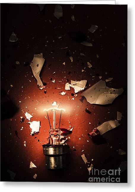 Intrinsic Obsolescence. Broken Idea By Design Greeting Card by Jorgo Photography - Wall Art Gallery