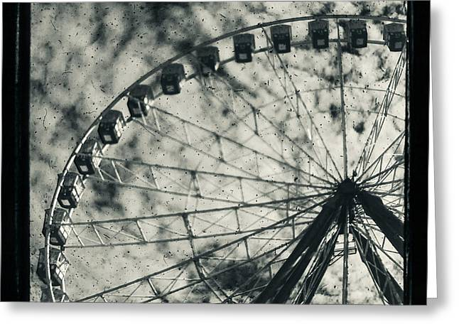 Ferris Wheel Greeting Cards - Intrinsical Greeting Card by Andrew Paranavitana