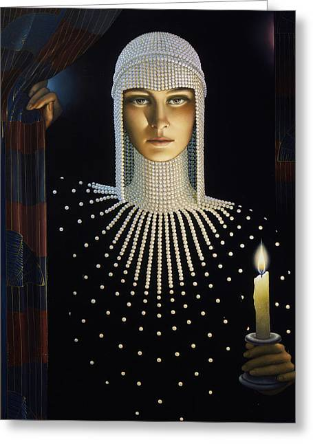 Candle Lit Paintings Greeting Cards - Intrique Greeting Card by Jane Whiting Chrzanoska