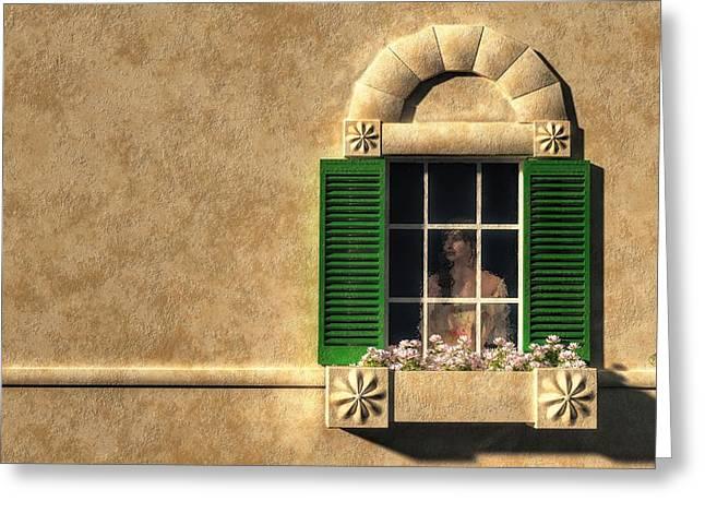 Rear Window Greeting Cards - Introvert Greeting Card by Daniel Eskridge
