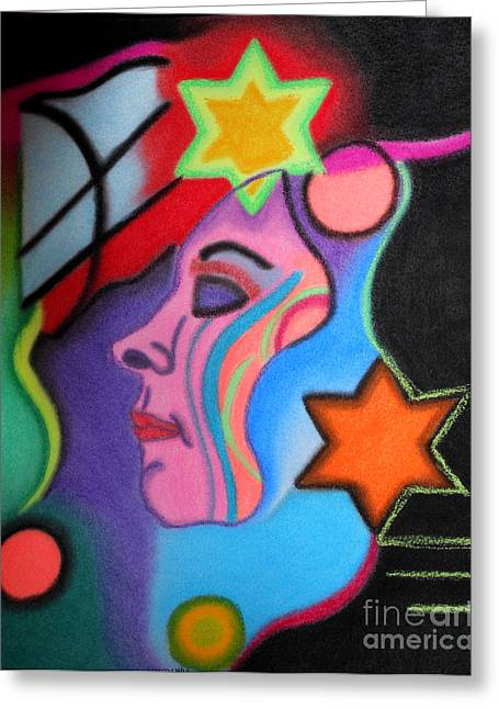 Vibrant Pastels Greeting Cards - Intuition Greeting Card by Christine Perry