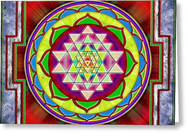 Hinduism Greeting Cards - Intuition Sri Yantra I Greeting Card by Dirk Czarnota