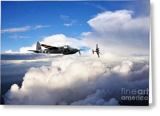 De Havilland Greeting Cards - Invasion Mosquitos  Greeting Card by J Biggadike