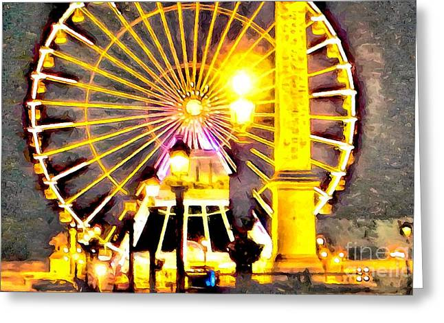 Night Lamp Greeting Cards - Invasion of Lights Greeting Card by GabeZ Art