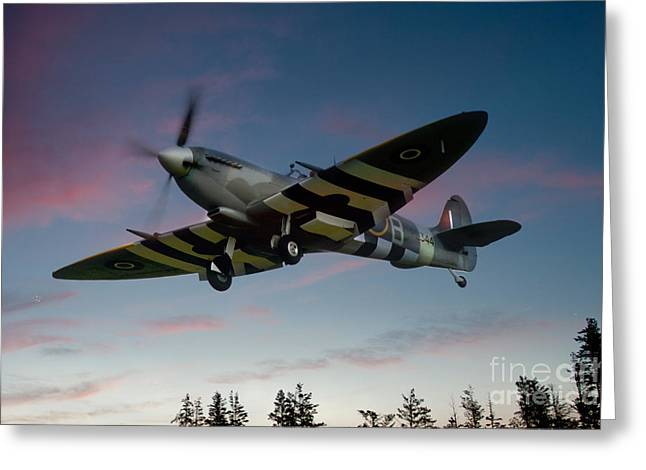 Spitfire Greeting Cards - Invasion Plans Greeting Card by J Biggadike