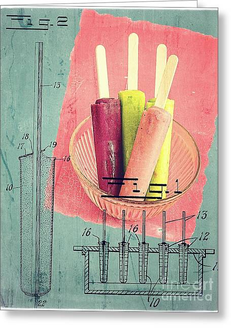 College Drawings Greeting Cards - Invention of the Ice Pop Greeting Card by Edward Fielding