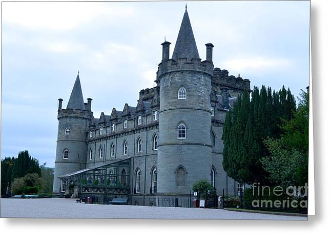 Campbell Clan Greeting Cards - Inveraray Castle Greeting Card by DejaVu Designs