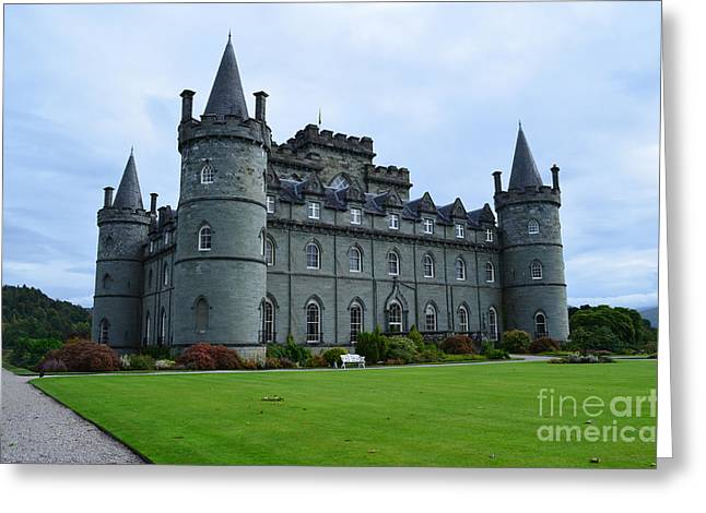 Campbell Clan Greeting Cards - Inveraray Castle in Scotland Greeting Card by DejaVu Designs