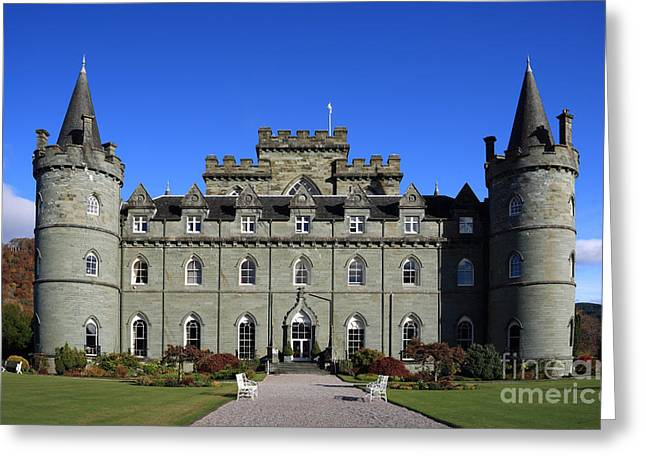 Campbell Clan Greeting Cards - Inveraray Castle Greeting Card by Maria Gaellman