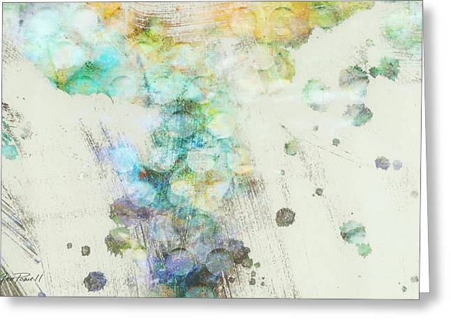 Pale Colors Greeting Cards - Inversion abstract art Greeting Card by Ann Powell