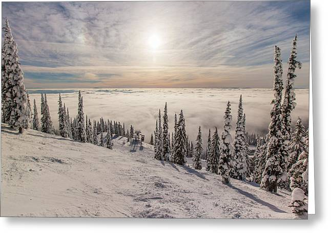 Photos For Sale Greeting Cards - Inversion Sunset Greeting Card by Aaron Aldrich