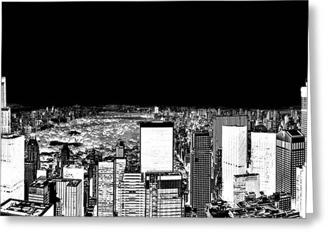 Manhattan Greeting Cards - Inverted Central Park View Greeting Card by Az Jackson