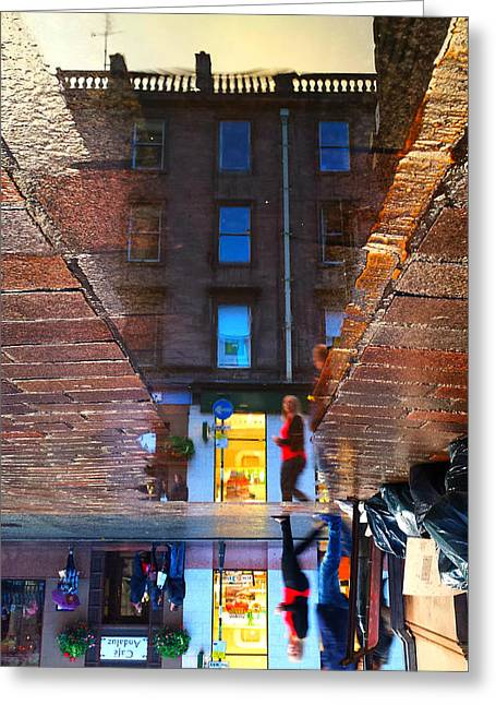 Inversion Greeting Cards - Scotland - Glasgow Inverted Greeting Card by Ryan Ayris