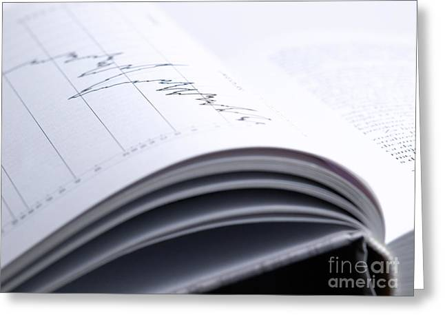 Exchanging Information Greeting Cards - Investment book Greeting Card by Sinisa Botas