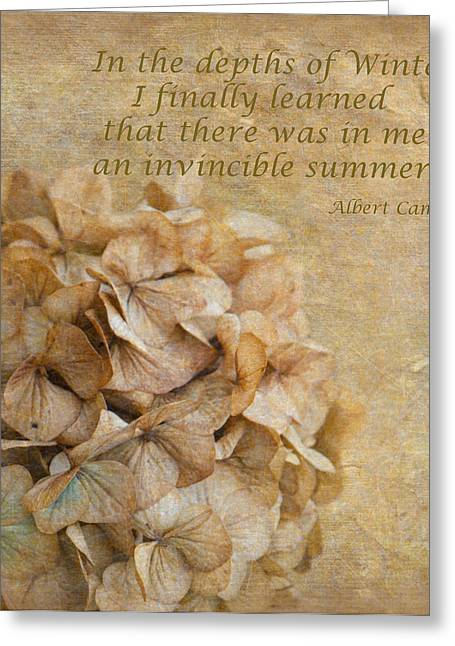 Enhanced Greeting Cards - Invinsible Summer Greeting Card by Angie Vogel