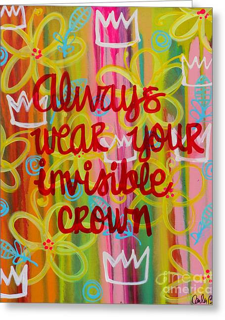 Carla Bank Greeting Cards - Invisible Crown Greeting Card by Carla Bank