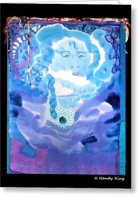 Transparent Tapestries - Textiles Greeting Cards - Invisible Greeting Card by Nandy King