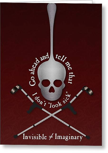 Crutch Digital Art Greeting Cards - Invisible Not Imaginary Greeting Card by SarahCate Philipson