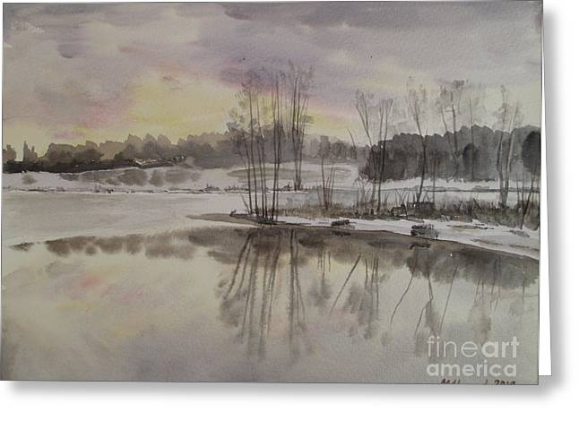 Reflections In River Greeting Cards - Invisible Sun Greeting Card by Martin Howard