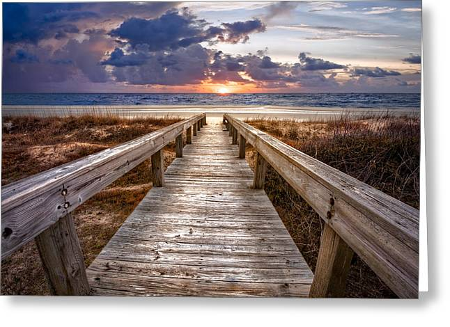 Beachscape Greeting Cards - Invitation Greeting Card by Debra and Dave Vanderlaan