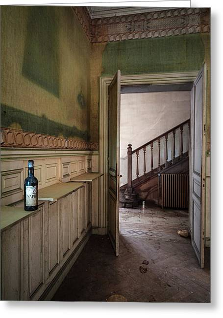 Castle Room Greeting Cards - Invitation to have a drink Urban exploration Greeting Card by Dirk Ercken