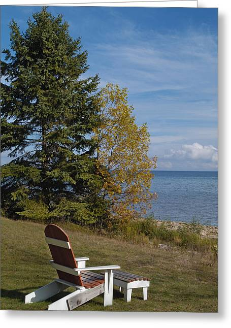 Lawn Chair Greeting Cards - Inviting Greeting Card by Vic Harris