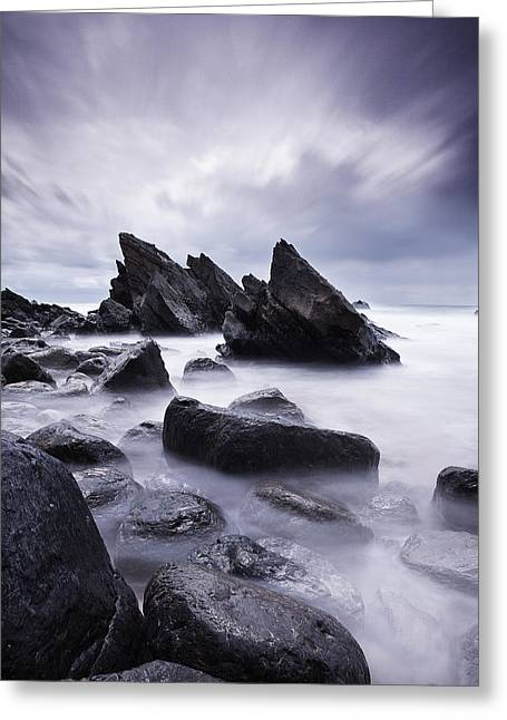 Green Clouds Greeting Cards - Invulnerable Greeting Card by Jorge Maia