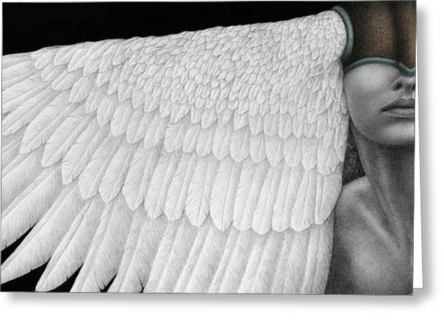 Contemporary Greeting Cards - Inward Flight Greeting Card by Pat Erickson