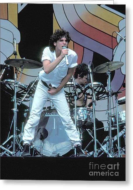 Michael Hutchence Greeting Cards - Inxs Greeting Card by Front Row  Photographs